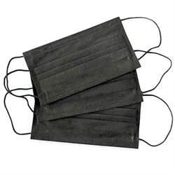 Маска черная 3-х слойная (упаковка) - фото 7264