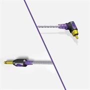 Bishop Premium Lightweight 90 Degree RCA Cord (violet)
